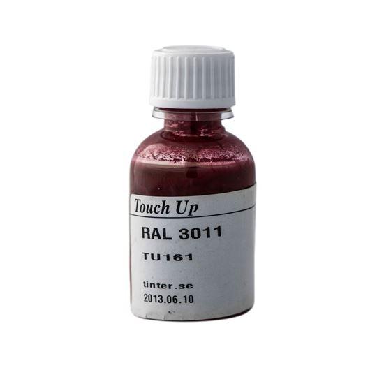 Bättringsfärg för målad aluminiumbeklädnad, Brunröd RAL 3011