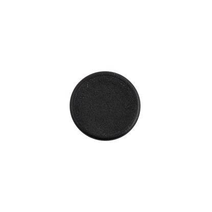 Täcklock för karmskruvshål, svarta i plast